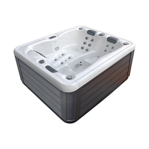 Side angle view of the Galaxy Spas Carina spa pool