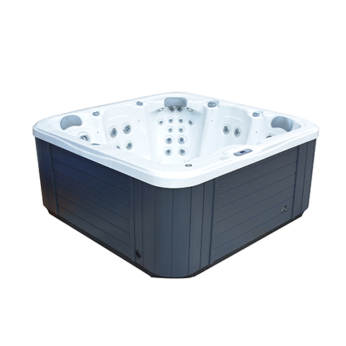 Side angle view of the Galaxy Spas Orion spa pool